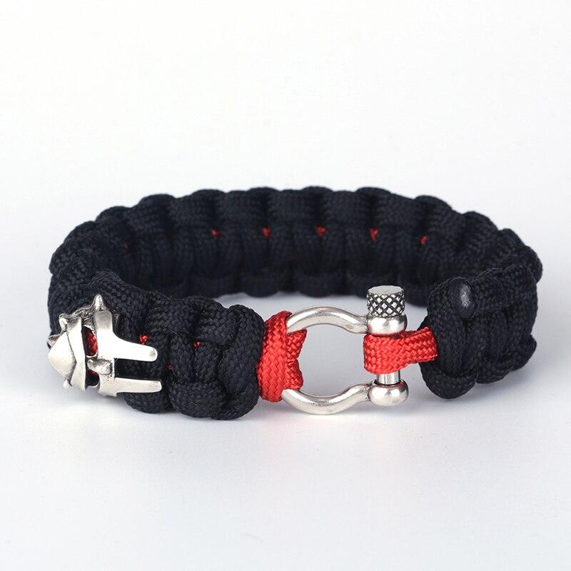 KEJIALAI Wholesale Braided Dark Cotton Thread Bracelets Metal Iron Man Bracelets for Men Women Casual Jewelry Pulseras YSBR002 ...