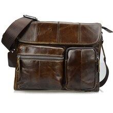 2017 mode Öl Wachs Echtem Leder Männer Tasche Marke Messenger Bags Für Männer Hohe Qualität Vintage Leder Männlichen Reise Handtaschen
