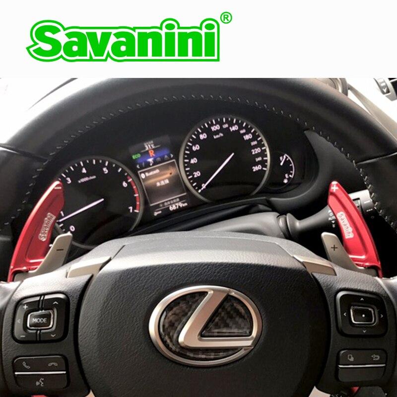 Savanini Алюминий руль сдвиг весло Shifter расширение для Lexus NX200T 300 H IS200T RC RCF авто тюнинг автомобилей Аксессуары