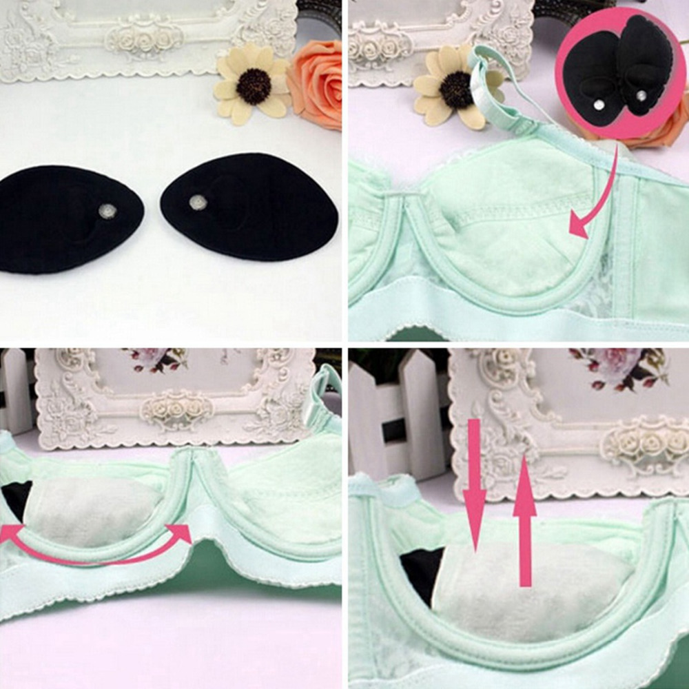 0ec51ddec9 Aliexpress.com   Buy 1 Pair Women Magic Bra Inserts Cotton Comfortable  Chest Breast Enhancers Inflatable Push Up Bra Pads for Bikini Swimsuit from  Reliable ...
