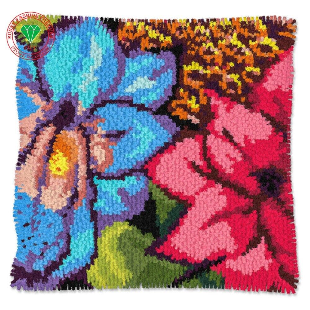 Diy rug kits brand carpet home pillow flower yarn