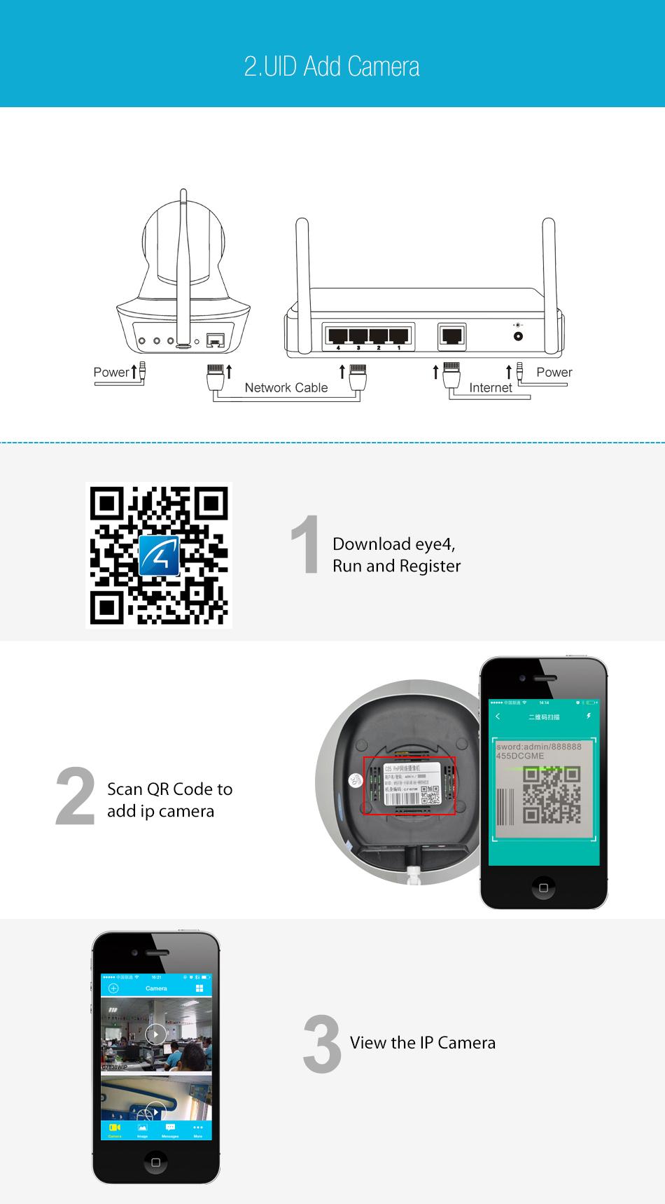 Vstarcam C7825Wip 720P Hd Wifi Ip Camera P/T Memory Storage Ir-Cut Night  Vision Audio Record
