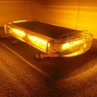 VSLED 42.5 cm Emergency LightBar Super Bright Wrecker Flashing Beacon Strobe Light 6 COB Light Bar Warning Amber LightBar