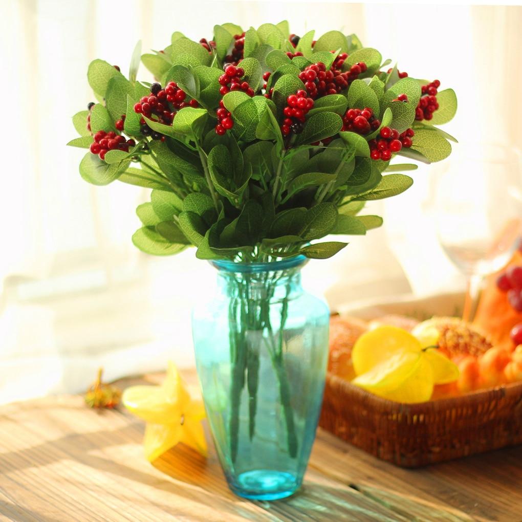 Diy Floral Arrangment Decor Berries Artificial Flower Bouquet