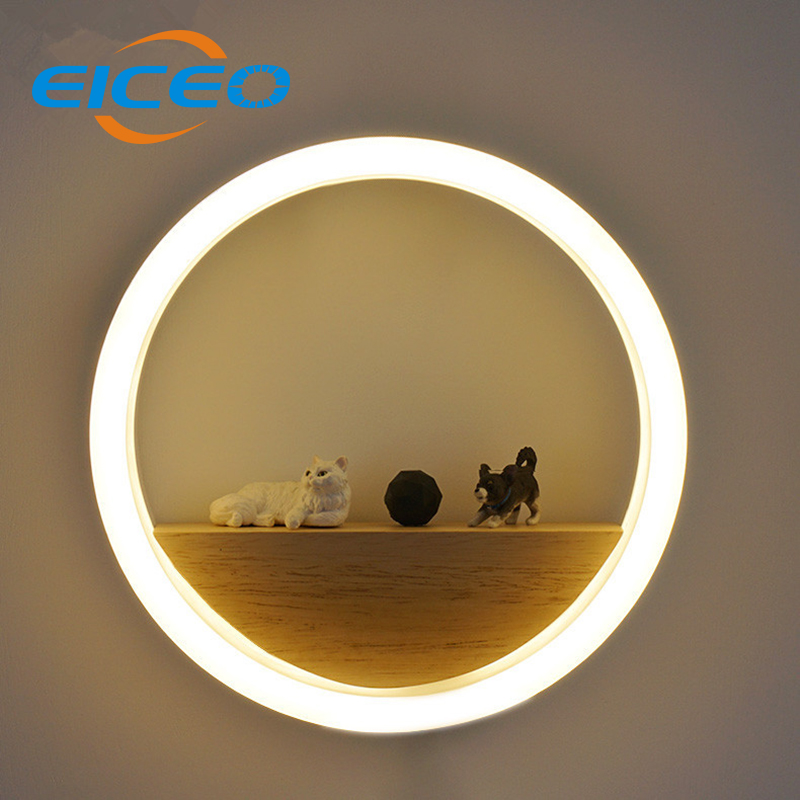 ФОТО (EICEO) New LED Aluminum Acrylic Wall Lamp Wholesale Sitting Room Background Wall Adornment Lanterns Corridor Lamps Bedroom Head