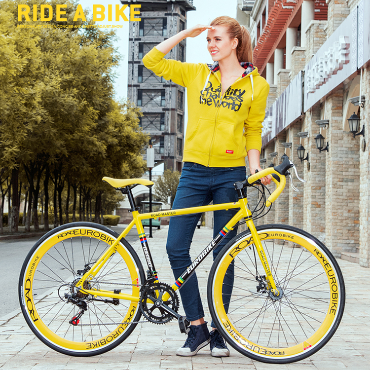 New brand 700C aluminum alloy frame 14/27 speed disc brake road bike outdoor sport racing bicicleta cycling break wind bicycle  new brand 14 speed racing bike 700c 50cm bike aluminum alloy frame bend bicycle cycling disc brake road bike drop shipping