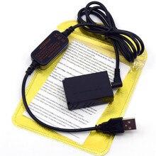 5 в USB зарядное устройство кабель ACK-E12 мобильный Банк питания+ DR-E12 DC муфта LP-E12 манекен батарея для Canon EOS M EOS M2 M10 M50 M100 камера