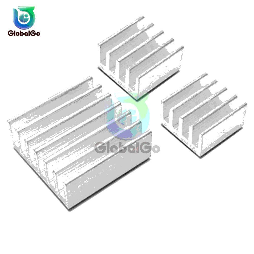 3 pçs/set Dissipador De Alumínio Dissipador de Calor Do Radiador Cooler Para Eletrônicos IC Chip de Computador LEVOU