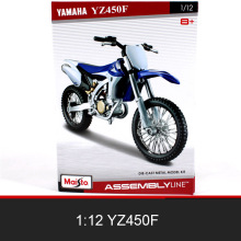 MAISTO YZ450F Off-Road Motorcycle Model Kit 1:12 scale metal Assembly DIY Motorcycle Bike Model Kit Toy For Gift Collection ohs tamiya 14093 1 12 yoshimura hayabusa x1 scale assembly motorcycle model building kits g