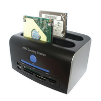 2.5 3.5 SATA IDE HDD Docking Station Dual Hard Disk Drive Dock ESATA USB HUB Convenience 17Aug30 hh33