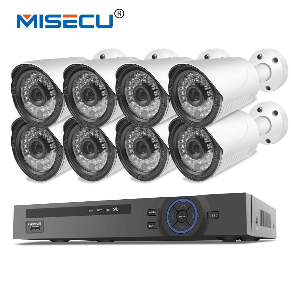 MISECU 48V 8CH 1080P POE NVR 2.0mp 48V PoE 1080P Camera P2P HDMI Metal Onvif Surveillance 36p IR night vision PC&Phone XMeye 16ch poe nvr 1080p 1 5u onvif poe network 16poe port recording hdmi vga p2p pc