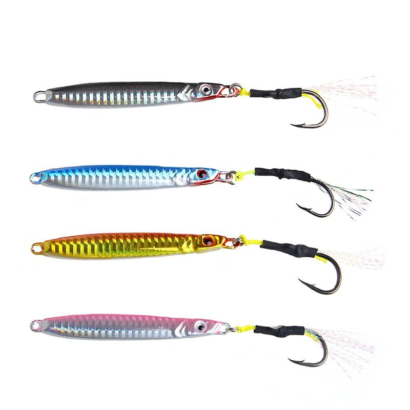40g Metal Jigging Spoon fishhooks Sea Fishing Baits with Hook Lead Fish Fishing Iron Hooks