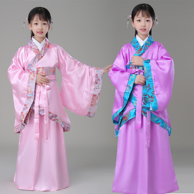 cd863ef91ea Girl Ancient Chinese Traditional National Costume Hanfu Princess Children  Hanfu Dresses Cosplay Clothing Girls Kids