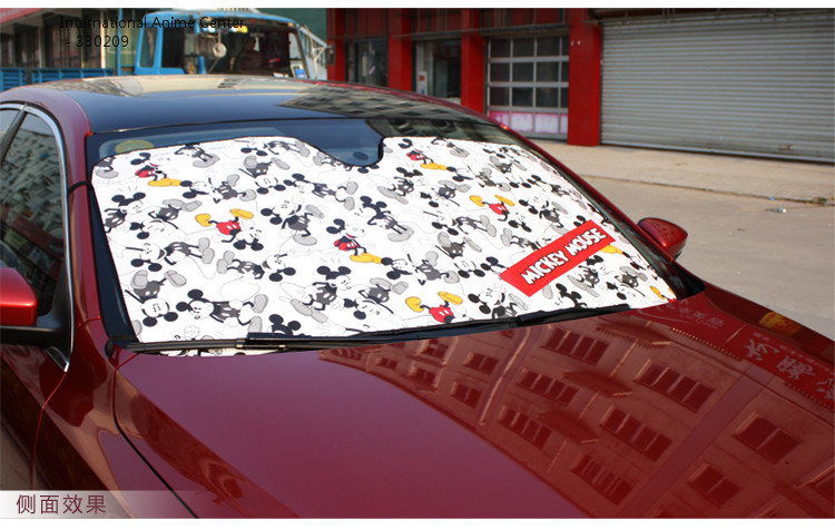 NAPOLEX Cartoon Mickey Mouse Front Window Sunshade Car Foils Windshield  Visor Cover UV Protect Car Film Sun Shade WD 264-in Front Window from  Automobiles ... 0879e46b3c2