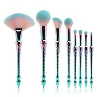 8pcs Taj Mahal Shaped Makeup Brush Set Professional Foundation Powder Cosmetic Maquiagem Brush Kit Mermaid Brushes