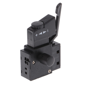 Wysokiej jakości 10A blokada zasilania narzędzie wiertarka elektryczna kontrola prędkości przycisk wyzwalacza przełącznik tanie i dobre opinie CN (pochodzenie) Electric drill speed control trigger Z tworzywa sztucznego 1 Year JJ20762-00B Pokrętło przełącznika