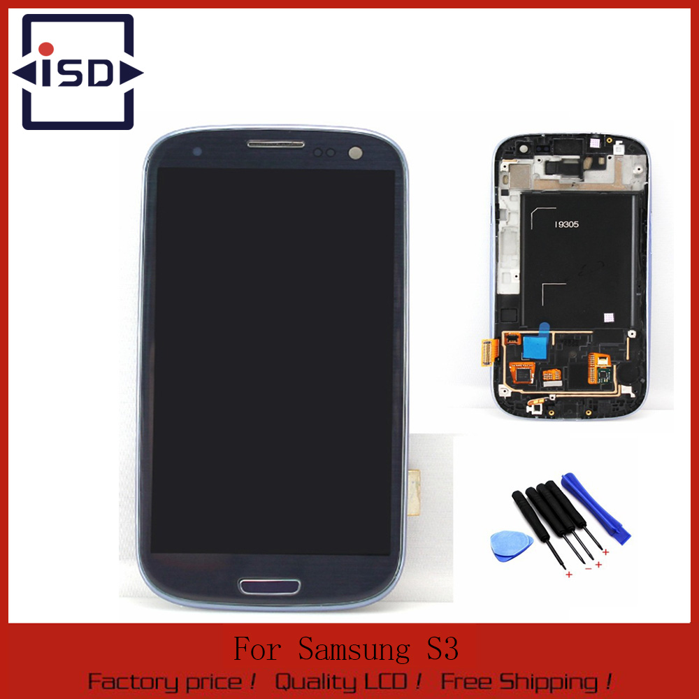 Blue LCD For Samsung Galaxy S3 i9305 LCD Touch Screen with Digitizer + Bezel Frame Assembly with tools replacement Free shipping 2015 new support rear camera car stereo mp3 mp4 player 12v car audio video mp5 bluetooth hands free usb tft mmc remote control