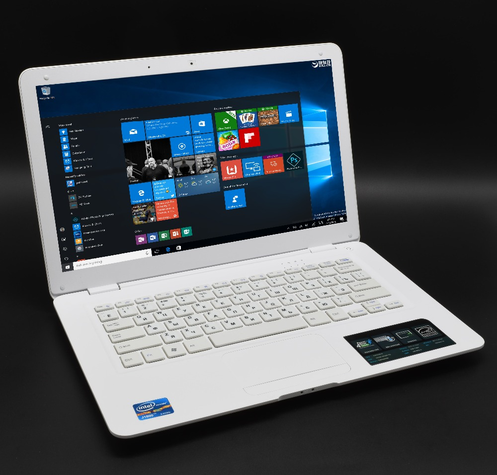 14.1 Ordinateur Portable 8 gb RAM 750 gb HDD Windows7 10 Rapide CPU Intel Celeron Étudiant Portable WIFI Arabe AZERTY russe Espagnol Clavier
