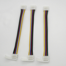 5pcs/pack 6pins 12mm LED RGB+Cold White+Warm White Strip Light Quick Connectors No Welding Easy Solution&6pin Connector Clip