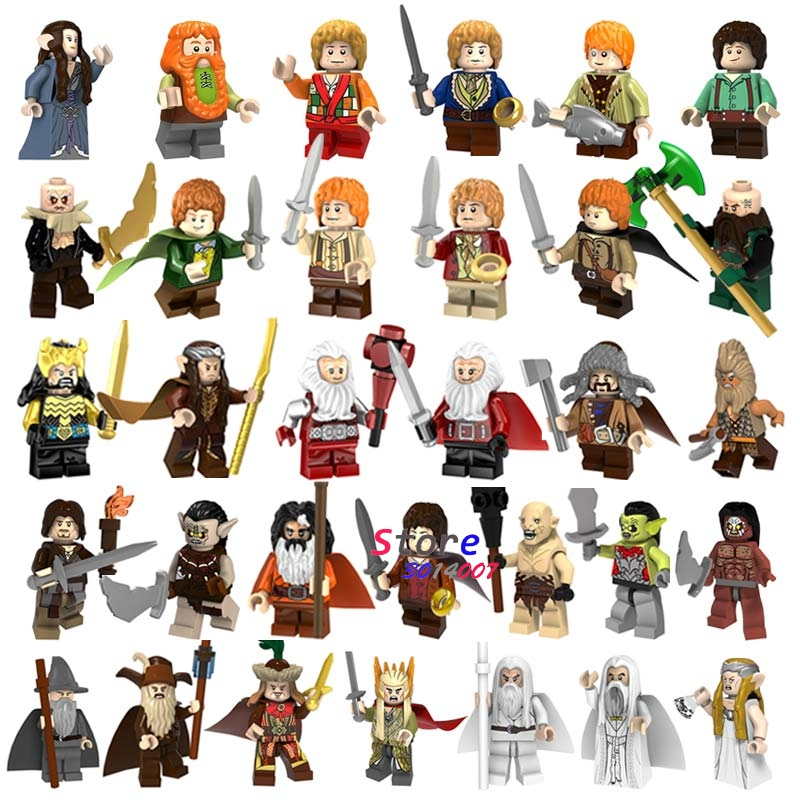 50pcs The Lord Of The Rings Samwise Gamgee Frodo Gandalf Radagast Saruman Building Blocks children toys