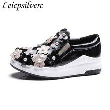 de Encaje Retro Viento Colegio Pequeños Zapatos Casuales Zapatos de Gran Tamaño, Black, 40