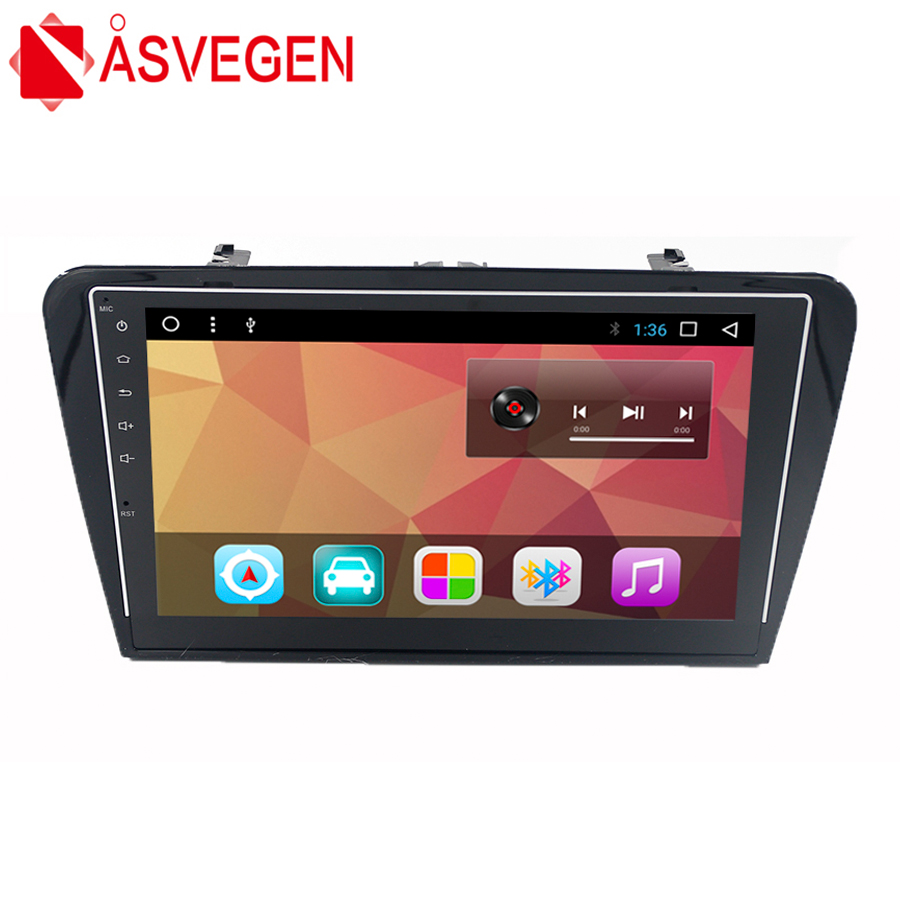 Asvegen 10.2 inch Android 7.1 Quad Core Car Auto Radio Wifi GPS Navigation Multimedia DVD Player For Skoda Octavia 2014 2016