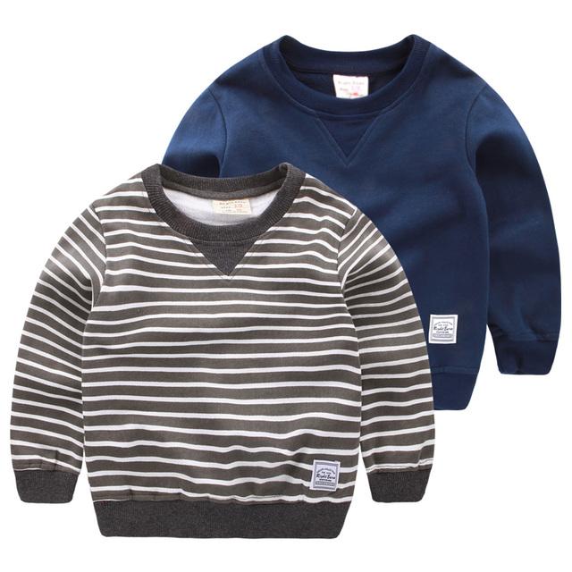 O menino no Suéter Listrado 2016 outono nova primavera crianças casaco bebê jaqueta de gola alta maré U4072