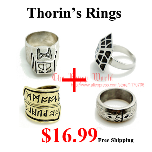 4 Rings Hobbit Thorin Dwalf Koning Ring Lotr De Lord Of Rings Thorin