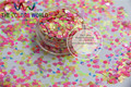 Hrgn-50 Mix mate colores de neón resistente a los disolventes Dot + corazón + triángulo lentejuelas formas para Nail Polish & Gel acrílico 1 Pack = 50 g