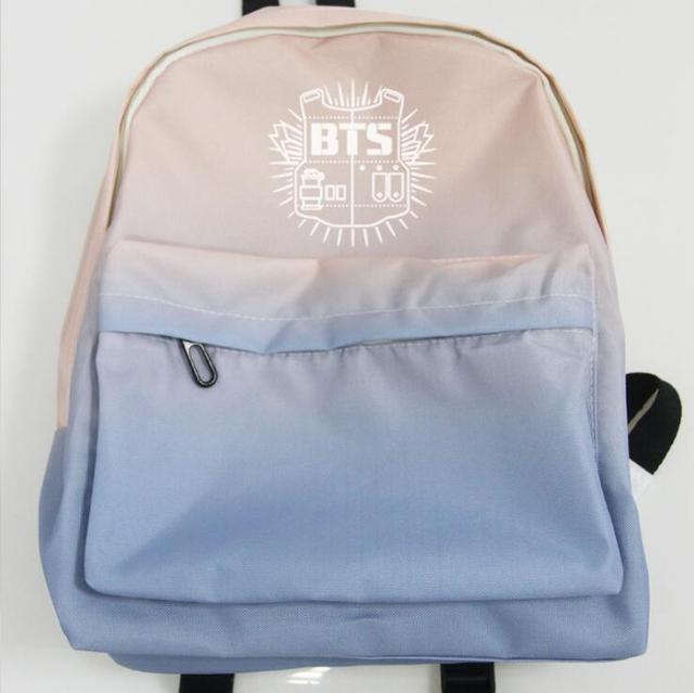 New kpop BTS Bangtan Boys WINGS YOUNG FOREVER new logo The Same Gradient  canvas bag student backpack four model