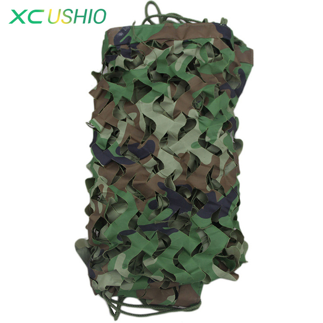 2x3M Large Jungle Camouflage Net Beach Tent Hunting Camping Military Camouflage Netting Sun Shelter Outdoor Car Shade Cover