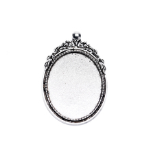 5pcs/lot 30x40mm Pendant Base Settings Cabochon Cameo Tray Bezel Blank Fit big size Cabochons Cameo Jewelry Findings mibrow 10pcs lot stainless steel 8 10 12 14 16 18 20mm blank french lever earring tray cabochon setting cameo base jewelry