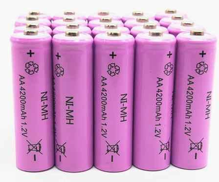 16 قطعة مجموعة AA ni-mh 1.2 فولت AA قابلة للشحن 4200 مللي أمبير بطارية بطارية قابلة للشحن aa بطاريات ل مصباح يدوي/كاميرا الوردي