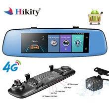 Hikity 4 г ADAS Видеорегистраторы для автомобилей Камера видеомагнитофон зеркало 7,84 «Touch Android 5,1 с двумя Камера s видеорегистратор Регистратор wi-Fi черный ящик