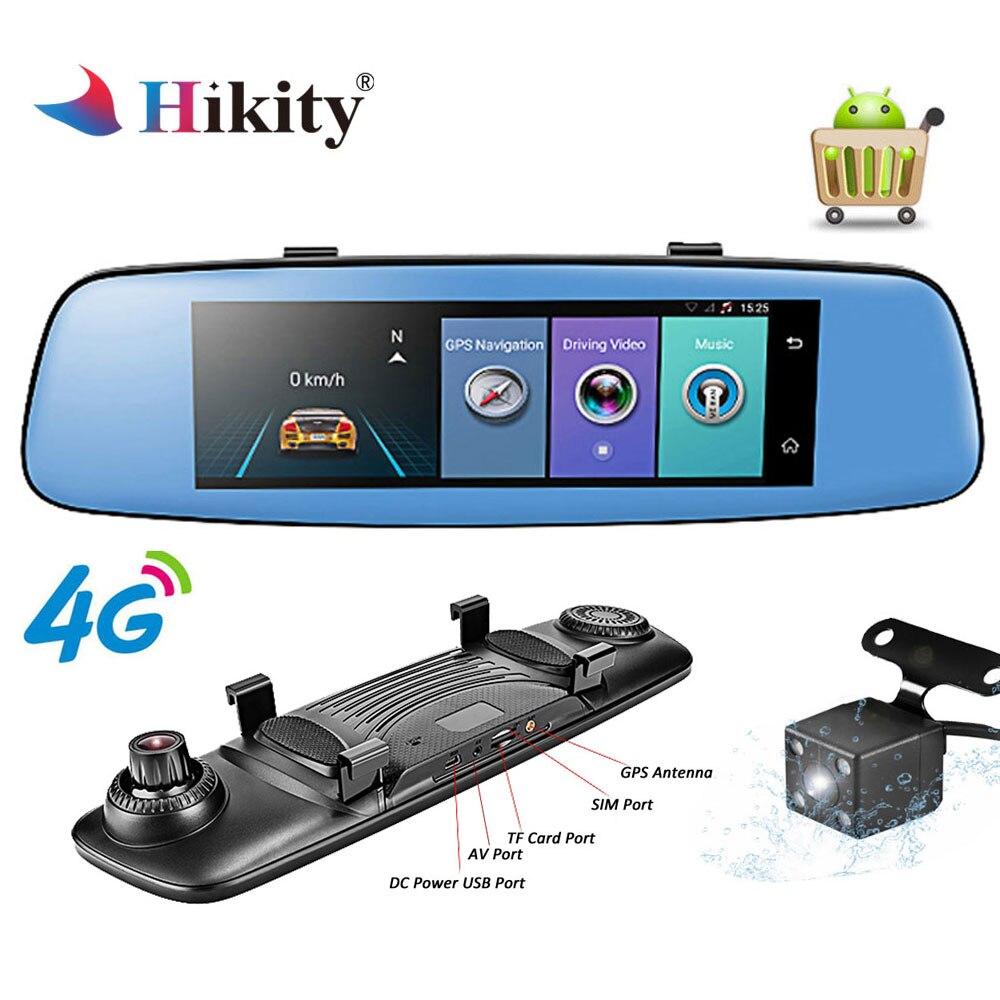 Hikity 4G ADAS voiture DVR caméra enregistreur vidéo miroir 7.84