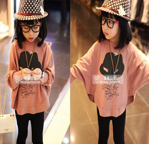 2018 Hot Sale Fashion Kids Girls Loose Hoodies Clothes Baby Girls Clothes Toddler Girls T Shirts Tees 2 To 15Y Children T Shirt
