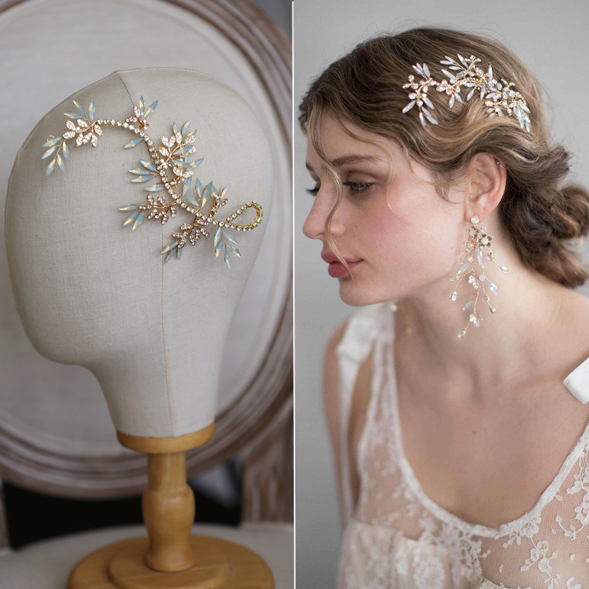 Opal Wedding Headband Crystal Headdress Hair Vine Marquise Decorated Bridal Headpiece Rhinestone Hair Jewelry-in Hair Jewelry from Jewelry & Accessories on Aliexpress.com | Alibaba Group