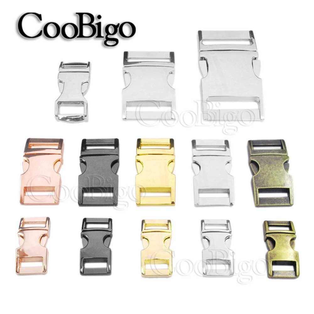 "1pcs Metal Hardware 3/8""~1"" Release Buckles for Paracord Bracelet Pets Collar Webbing Harness Outdoor Backpack Bags"