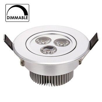 50 unids/lote nuevo 2015 3W 4W 5W regulable led downlight AC 120V 220V plata ajustable shell venta al por mayor precio más bajo