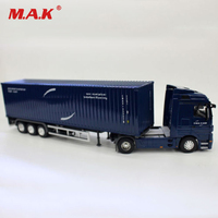 Alloy Diecast 1/50 Scale CMA CGM Shipping Transport Container Truck Car Vehicles Blue Sealed Kids Toys for Chirstmas Gift