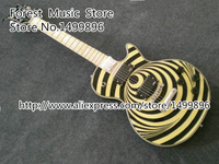Wholesale Retail High Quality Chinese Yellow LP Zakk Wylde Vertigo Bullseye Signature Electric Guitar Custom Available