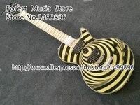 Wholesale Retail High Quality Chinese Yellow LP Zakk Wylde Vertigo Bullseye Signature Electric Guitar Custom Available