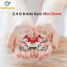 Mini Drone 4 Цвета Небольшой Карман FQ777-124 2.4 Г 4CH 6-осевой Гироскоп Беспилотный Безголовый Одним Из Ключевых Возвращения RC Quadcopter RTF LeadingStar