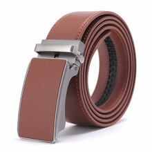 ФОТО 2018 new designer popular luxury cowhide leather belt brown automatic buckle belly waist business casual belts for men 3.4 width