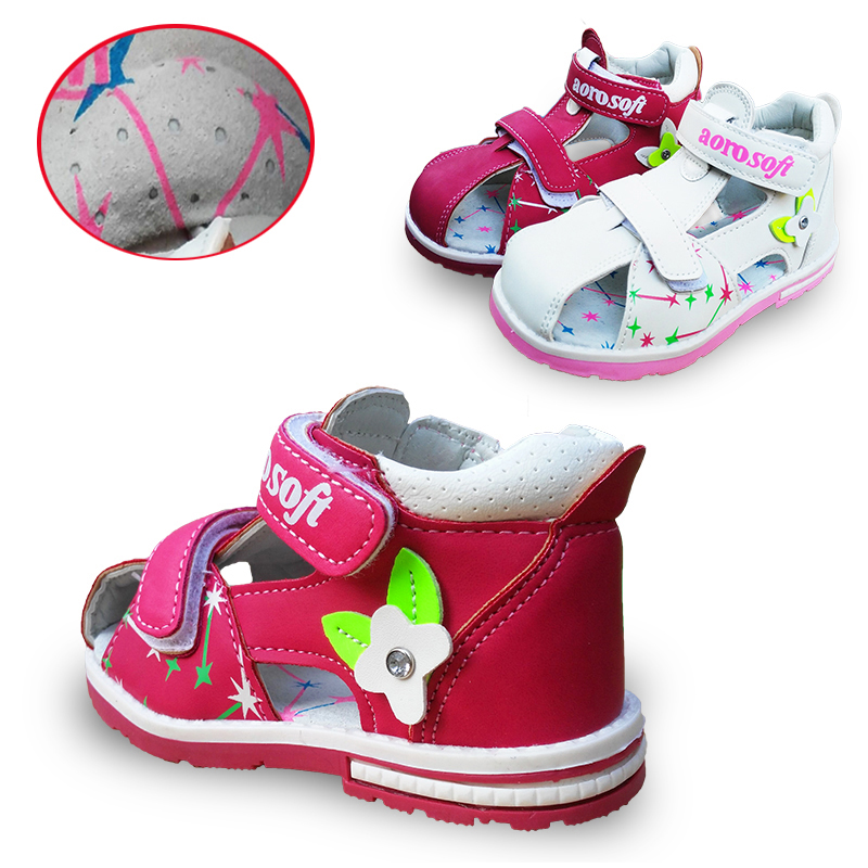 Lovely 1pair Summer Baby Arch Support Orthopedic  Sandals Antiskid Girl Shoes,Super Quality Kids/Children Soft Sole Shoes