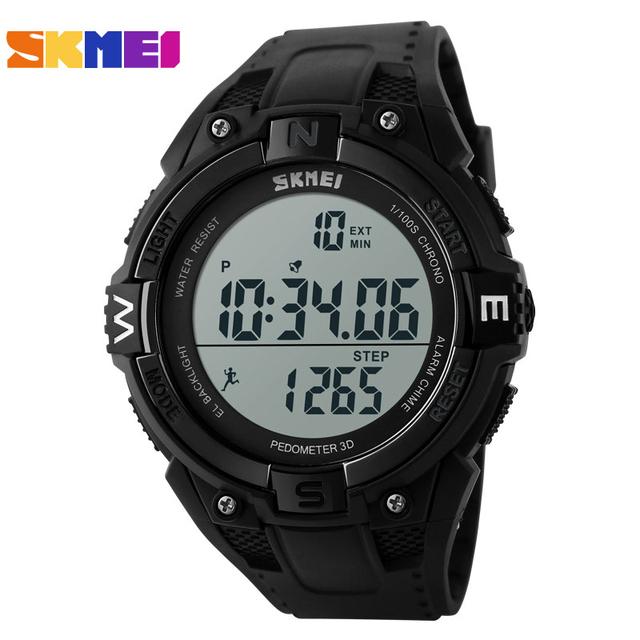 Skmei 1141 pedômetro automático das senhoras datejust luxo das mulheres do relógio à prova d' água esporte relógio de pulso moda militar relógio cronógrafo