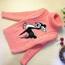 New Cartoon Autumn Winter Baby Boys Girls Kids Children's Fawn Warm Turtleneck Sweaters Pullover Cardigans Top clothes Outerwear