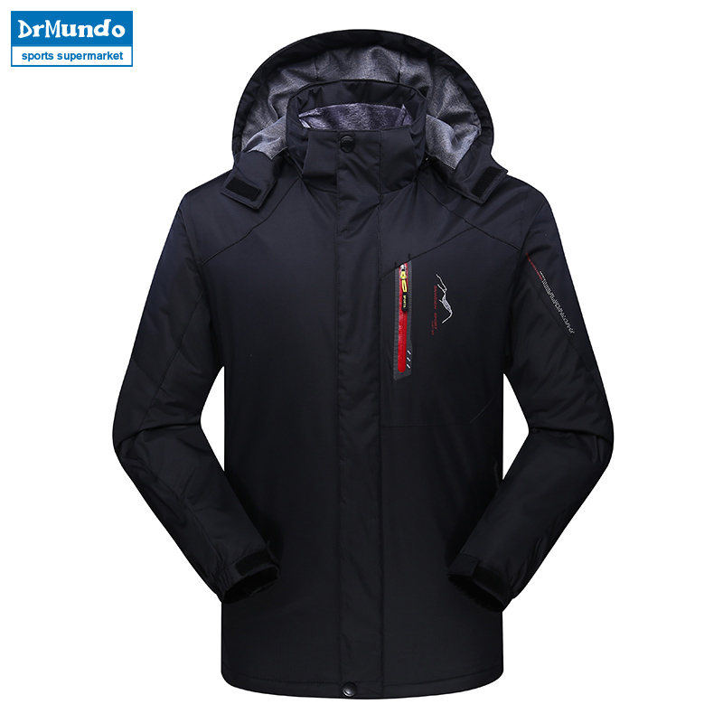 Men ski jacket Mountain Thicken Plus Size Fleece Ski-wear Waterproof Hiking Outdoor Snowboard Jacket Windproof Snow Jacket drmundo hiking jacket men plus size windbreaker waterproof ski outdoor rain jacket mountaineering fleece jacket lengthened