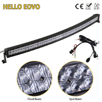 5D CREE 52 Inch 500W Curved LED Light Bar For Work Indicators Driving Offroad Boat Car