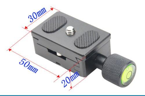 metal 30mm Quick Release Plate mount kit fr Camera Tripod Monopod Ball Head DSLR